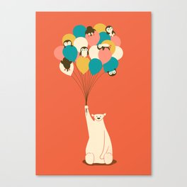 Penguin Bouquet Canvas Print