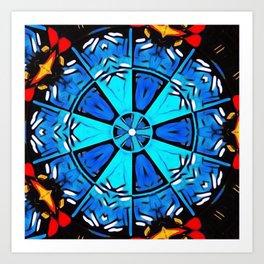 Inspirational Abstract Mandala Art Print