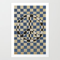 Peace square Art Print