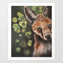 Little Red, fox painting, fox print, red fox Art Print