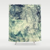 grunge Shower Curtains featuring Grunge by Amanda Roof