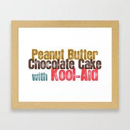 Peanut Butter Chocolate Cake #childishgambino #Gambino Framed Art Print