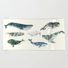 Whales Beach Towel