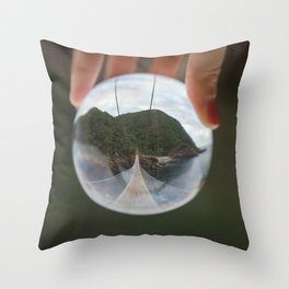 Storms River Mouth Bridge Throw Pillow
