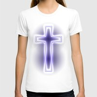 metallic T-shirts featuring Metallic Cross by Alli Vanes