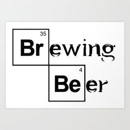 Brewing Beer Art Print