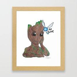Tree and fairy Framed Art Print