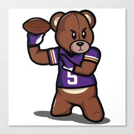 The Victrs - Teddy Football Canvas Print