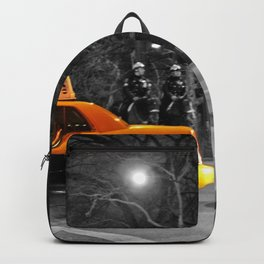 NYC - Yellow Cabs - At the Park Backpack