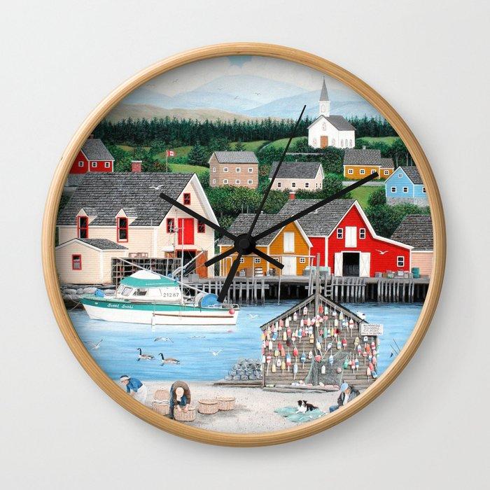 Fisherman's Cove Wall Clock