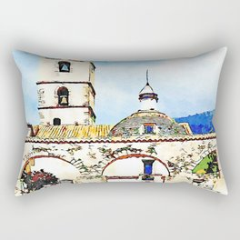 Arcades, bell tower and dome of the sanctuary saint francis of paola Rectangular Pillow