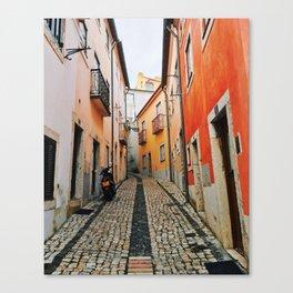 Alley of Lisbon Canvas Print