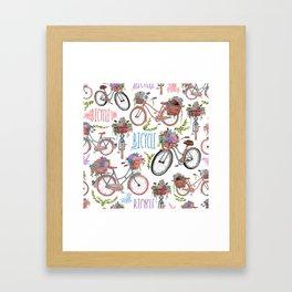 Bicycles Framed Art Print