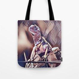 Young Iguana Lizard Tote Bag