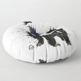 Skunk - Ink Blot Floor Pillow