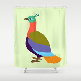 Danphe: The Bird of the Himalayas Shower Curtain