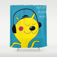 dj Shower Curtains featuring dj by Sucoco