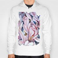magnolia Hoodies featuring magnolia by Eva Lesko