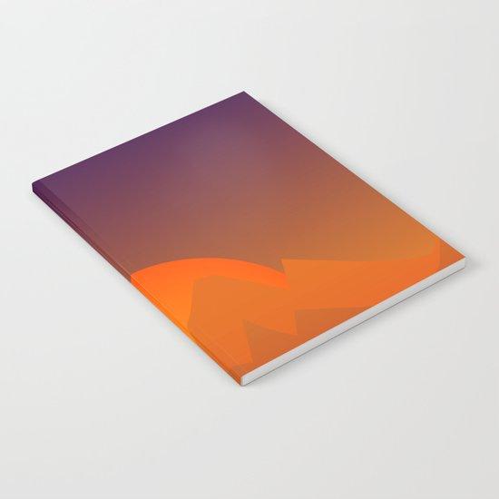 Slumbering Hills, Southwestern Landscape Art Notebook