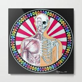 Psychedelic Anatomy Metal Print