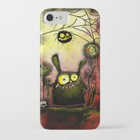 creepy iPhone & iPod Cases featuring creepy by Katja Main