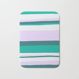 Hermosa, sunset stripes Bath Mat