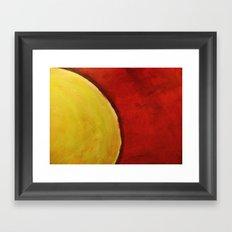 The Sun Beats Down Framed Art Print
