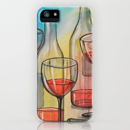 Abstract wine art / Friday Night iPhone Case