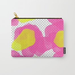 Sarah's Flowers - Abstract Watercolor on Polka Dots Carry-All Pouch