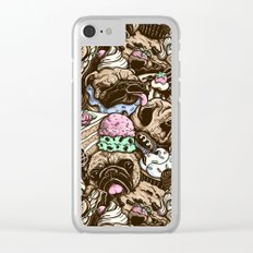 Dogs & Desserts Pattern Clear iPhone Case