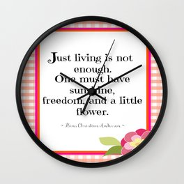 Sunshine, Freedom, and Flower Wall Clock