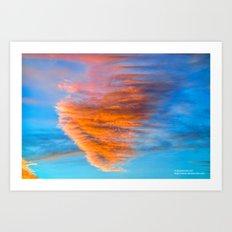 Heart of the Sunset Art Print