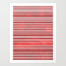 Tribality Red Texture Art Print