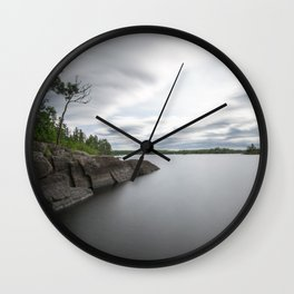 Boundary Waters Gabbro Lake Wall Clock
