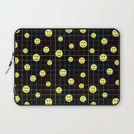 Colorful Smiley Emoji 4 - black Laptop Sleeve