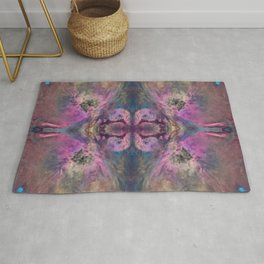 Abstract Blossom Rug