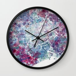 Sao Paulo map Wall Clock