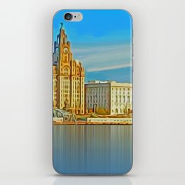 Water front Liverpool (Digital Art) iPhone Skin