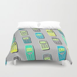 Vintage Cellphone Pattern Duvet Cover