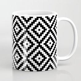 Aztec Block Symbol Ptn BW II Coffee Mug
