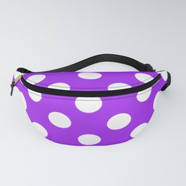 Veronica - violet - White Polka Dots - Pois Pattern Fanny Pack