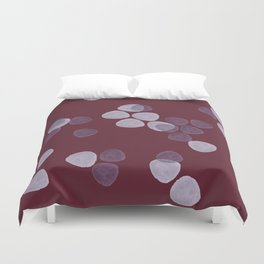 Bright Spring Petals in Burgundy Duvet Cover