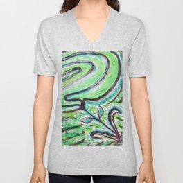A Windy Green Unisex V-Neck