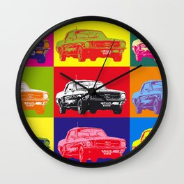 Mustang V8 1967 pop art inspired by A.W Wall Clock