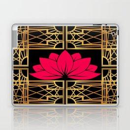Art Deco Retro Lotus (amaranth-black) Laptop & iPad Skin