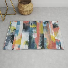 Colourful abstract collage.  Rug