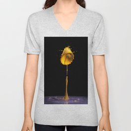 Abstract Flower 8 Unisex V-Neck