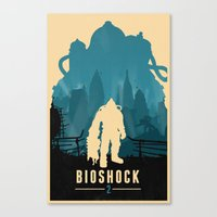 bioshock Canvas Prints featuring Bioshock 2 by Bill Pyle