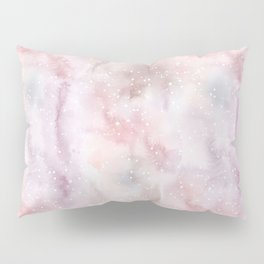 Mauve pink lilac white watercolor paint splatters Pillow Sham