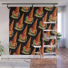 Rainbow Ice Cream Pattern Wall Mural